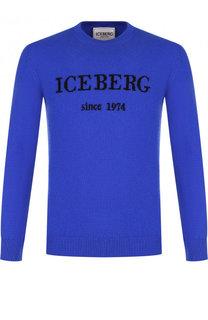 Кашемировый джемпер с логотипом бренда Iceberg