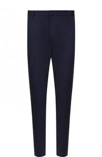 Хлопковые брюки прямого кроя с манжетами на молнии HUGO