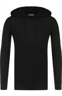 Шерстяной свитер с капюшоном John Smedley