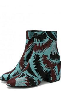 Текстильные ботильоны на устойчивом каблуке Dries Van Noten