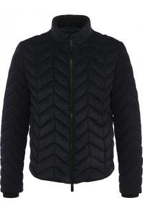 Утепленная стеганая куртка на молнии с воротником-стойкой Giorgio Armani