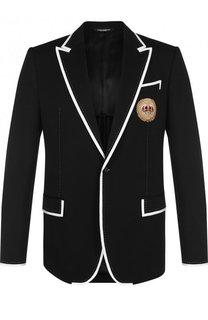 Однобортный пиджак с вышивкой Dolce & Gabbana