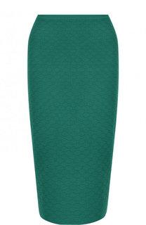 Однотонная юбка-миди из вискозы Diane Von Furstenberg
