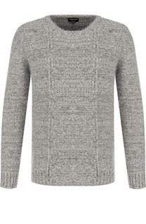 Шерстяной свитер фактурной вязки Giorgio Armani