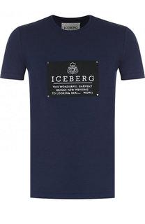 Хлопковая футболка с принтом Iceberg
