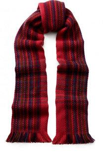 Кашемировый шарф Monoquadro с бахромой Loro Piana