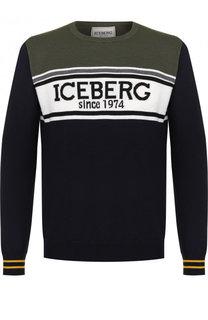 Шерстяной джемпер с принтом Iceberg