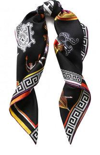 Шелковый платок с принтом Versace