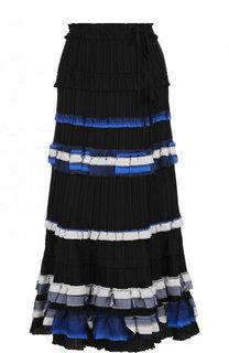 Плиссированная юбка-миди с контрастной отделкой 3.1 Phillip Lim