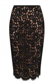 Кружевная юбка-карандаш с разрезом Michael Kors Collection