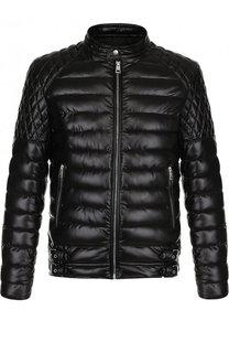Утепленная куртка на молнии с воротником-стойкой Just Cavalli