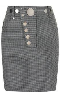 Мини-юбка с металлическими пуговицами Alexander Wang