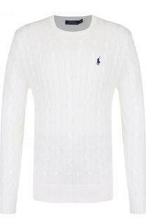 Однотонный свитер фактурной вязки Polo Ralph Lauren
