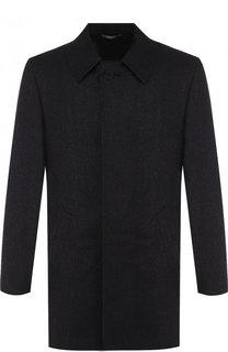 Однобортное шерстяное пальто Canali