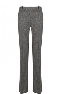 Расклешенные брюки из смеси шерсти и шелка со стрелками Tom Ford