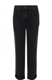 Укороченные джинсы с потертостями и отворотами J Brand