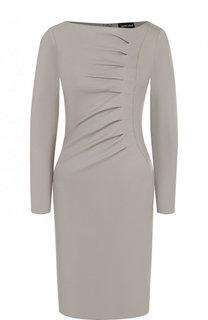 Однотонное приталенное мини-платье Giorgio Armani