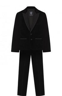 Хлопковый костюм из пиджака и брюк Dal Lago