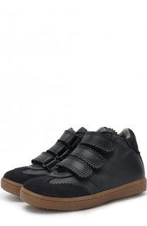 Кожаные ботинки с застежками велькро Gallucci