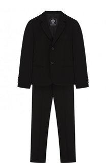 Шерстяной костюм из пиджака и брюк Dal Lago