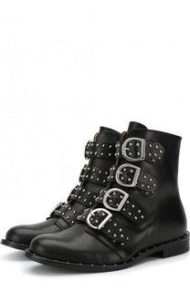 Кожаные ботинки с пряжками Gallucci