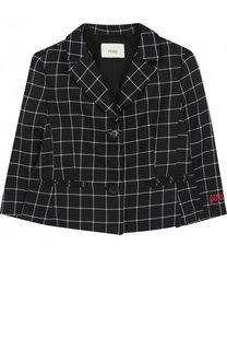 Пиджак из вискозы и шерсти на двух пуговицах Fendi