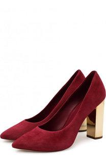 Замшевые туфли Paloma на устойчивом каблуке MICHAEL Michael Kors