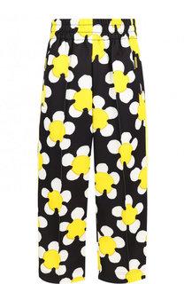 Укороченные брюки с эластичным поясом и принтом Marc Jacobs