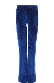Однотонные бархатные брюки с эластичным поясом Roberto Cavalli
