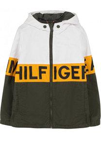 Куртка с контрастной отделкой и капюшоном Tommy Hilfiger