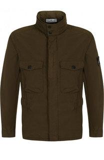 Куртка на молнии с воротником-стойкой Stone Island