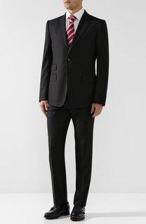 Шерстяной костюм с пиджаком на двух пуговицах Gucci
