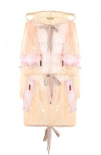 Полупрозрачное пальто на молнии с капюшоном Marc Jacobs