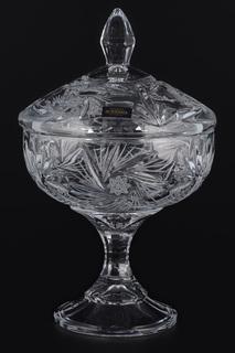 Конфетница с крышкой Crystalite Bohemia