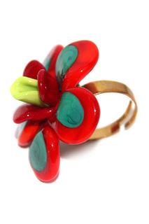 Кольцо Цветы Divetro