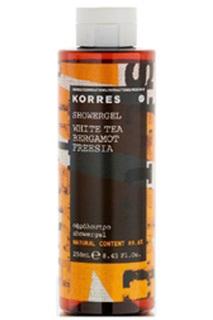 Гель для душа белый чай, берга Korres