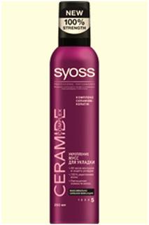 Мусс для укладки волос Укрепле SYOSS