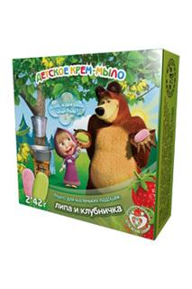 Детское крем-мыло Клубничка и Маша и Медведь
