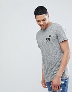 Длинная эластичная футболка Another Influence - Черный