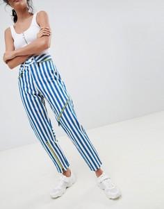 Полосатые джинсы в винтажном стиле с неоновыми молниями ASOS DESIGN Ritson rigid - Мульти