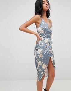 Платье с запахом и цветочным принтом Love & Other Things - Красный