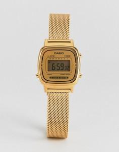 Золотистые цифровые часы Casio LA670 - Золотой