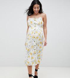 Летнее платье миди на пуговицах с цветочным принтом ASOS DESIGN Maternity - Мульти
