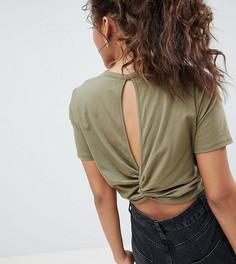 Укороченная футболка с перекрученной отделкой на спине ASOS DESIGN Tall - Зеленый