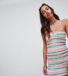 Фестивальное облегающее платье с пайетками Rokoko - Розовый