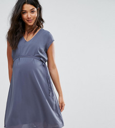 Свободное платье Mamalicious Maternity - Синий Mama.Licious