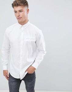 Узкая рубашка с отворотами на рукавах Jack & Jones Originals - Белый