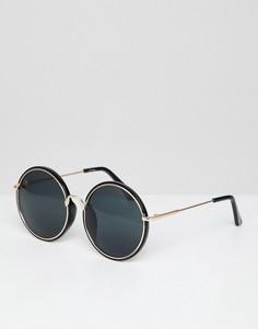 Черные круглые солнцезащитные очки в стиле oversize от Jeepers Peepers - Черный