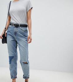 Рваные джинсы в винтажном стиле ASOS DESIGN Petite Recycled Ritson - Синий