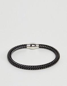 Черно-серый плетеный браслет Fred Bennett - Черный